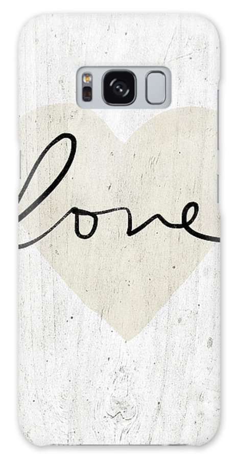 Love Galaxy S8 Case featuring the mixed media Rustic Love Heart- Art By Linda Woods by Linda Woods