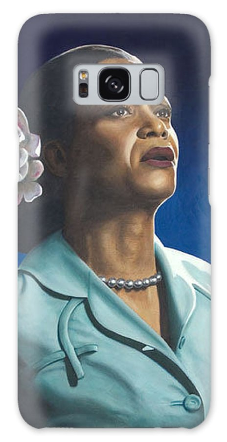 Portrait Galaxy S8 Case featuring the painting Ruth Jacott by Rob De Vries