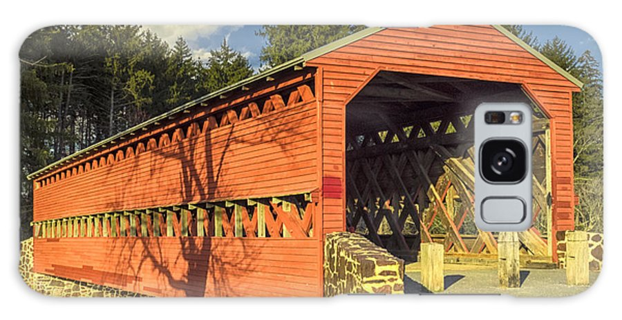 Adams County Galaxy S8 Case featuring the photograph Sachs Covered Bridge Square by Marianne Campolongo