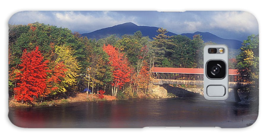 New Hampshire Galaxy S8 Case featuring the photograph Saco River Covered Bridge Storm by John Burk