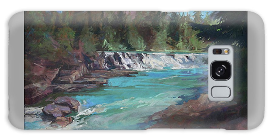 Glacier National Park Galaxy S8 Case featuring the painting Sacred Dancing Cascade by Betty Jean Billups