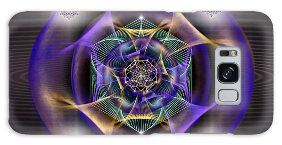 Endre Galaxy S8 Case featuring the digital art Sacred Geometry 554 by Endre Balogh