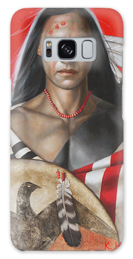 American Indian Galaxy S8 Case featuring the painting Sacred Power by K Henderson
