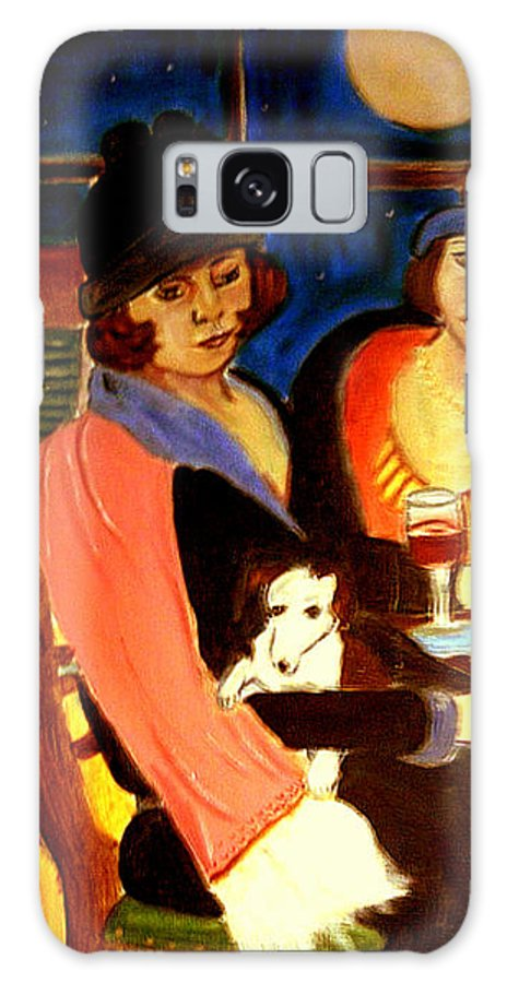 1920s Galaxy S8 Case featuring the painting Sad Cafe by Rusty Gladdish