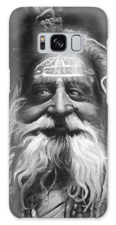 Sadhu Galaxy S8 Case featuring the painting Sadhu by Portraits By NC