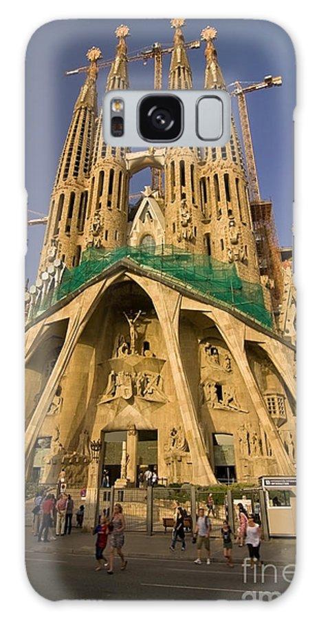 Sagrada Famila Galaxy Case featuring the photograph Sagrada Famila In The Fading Sun. by Sven Brogren