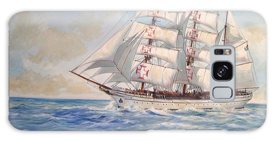 Tall Ship Galaxy Case featuring the painting Sagres by Perrys Fine Art