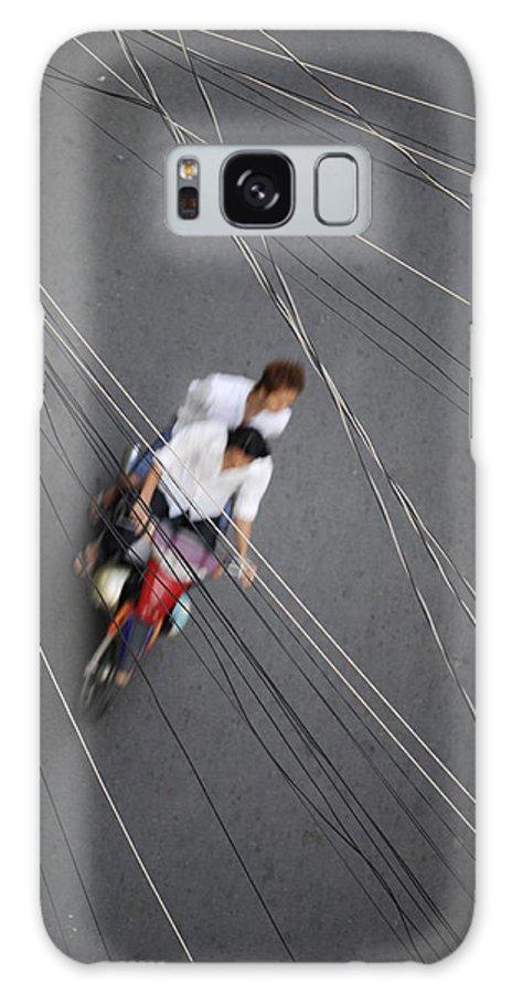 Asia Galaxy S8 Case featuring the photograph Saigon Wires by Rafa Rivas