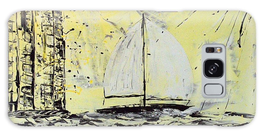 Abstract Galaxy Case featuring the painting Sail And Sunrays by J R Seymour