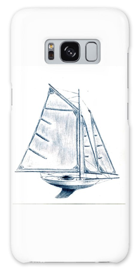 Boat Galaxy S8 Case featuring the drawing Sail Boat by Michael Vigliotti