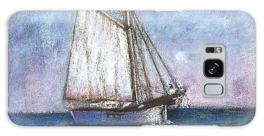 Boat Galaxy Case featuring the pastel Sailboat by Arline Wagner