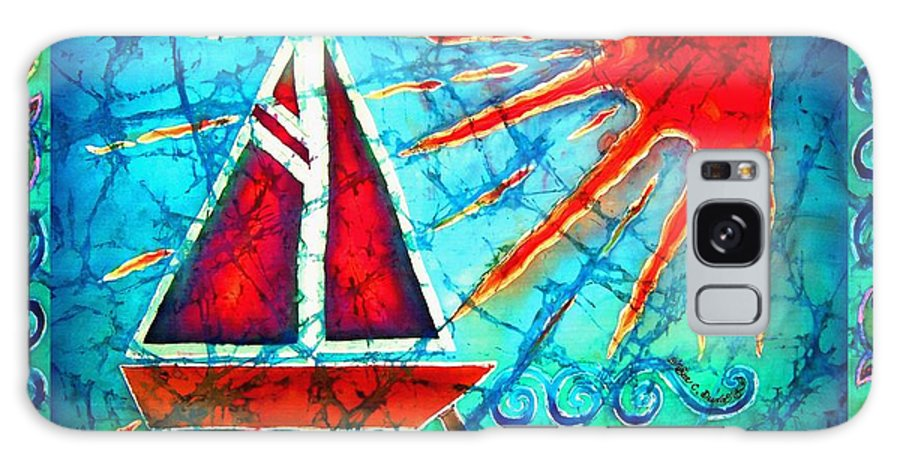 Sailboat Galaxy Case featuring the painting Sailboat In The Sun by Sue Duda