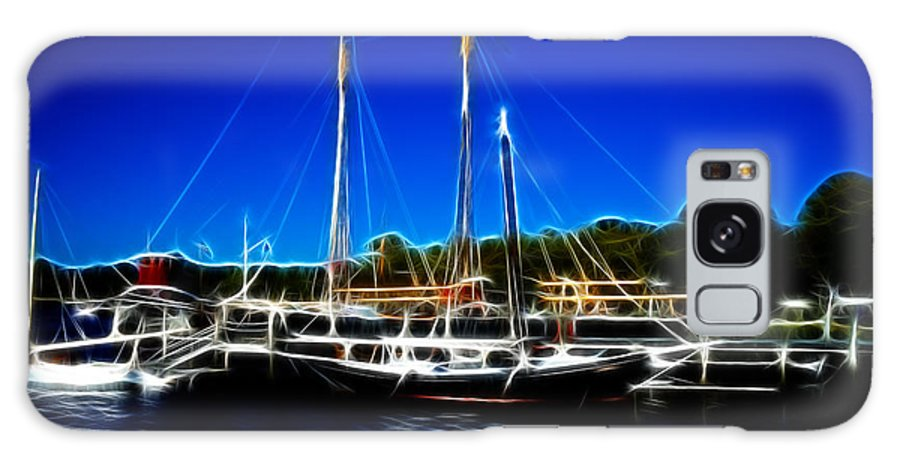 Mystic Galaxy S8 Case featuring the photograph Sailboats Mystic Seaport by Lawrence Christopher
