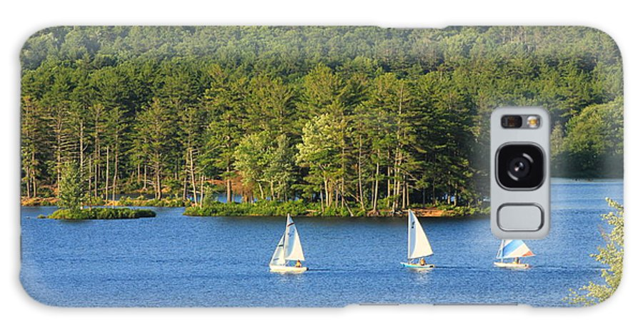 Recreation Galaxy S8 Case featuring the photograph Sailboats On Lake by John Burk