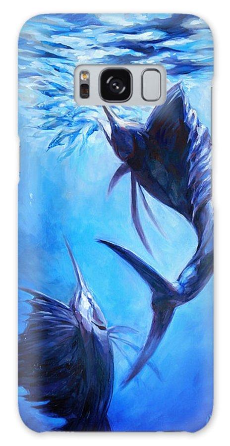 Sailfish Galaxy S8 Case featuring the painting Sailfish And Ballyhoo by Tom Dauria
