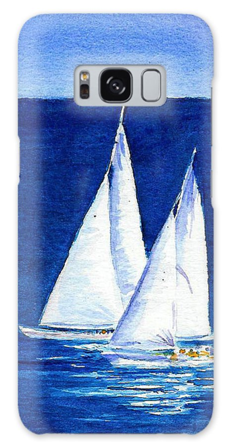 Sailboats Galaxy S8 Case featuring the painting Sailing by Anne Marie Brown