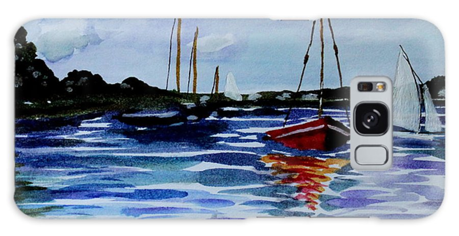 Sailing Galaxy S8 Case featuring the painting Sailing Day by Elizabeth Robinette Tyndall