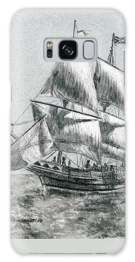 Seascape Galaxy S8 Case featuring the drawing Sailing by Michael Beckett