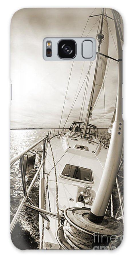 Sailing Galaxy S8 Case featuring the photograph Sailing On A Beneteau 49 Sailboat by Dustin K Ryan