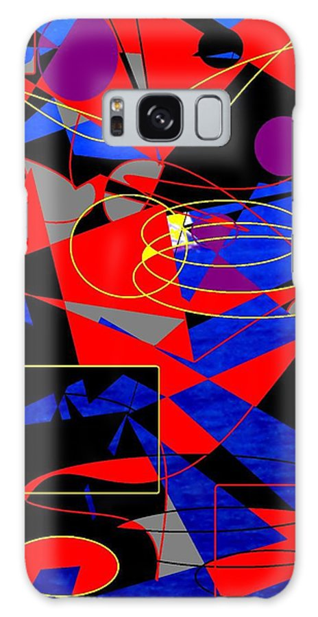 Abstract Galaxy S8 Case featuring the digital art Sailing On An Open Sea by Ian MacDonald