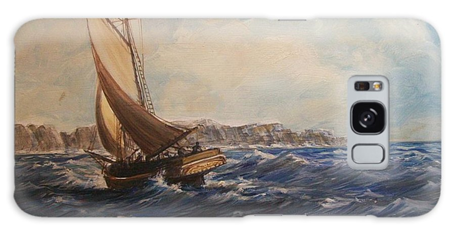 Seascape Galaxy S8 Case featuring the painting Sailing On Narragansett Bay by Perrys Fine Art