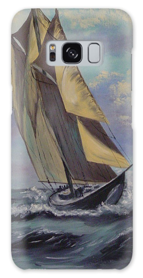 Ocean Galaxy S8 Case featuring the painting Sailing by Quwatha Valentine