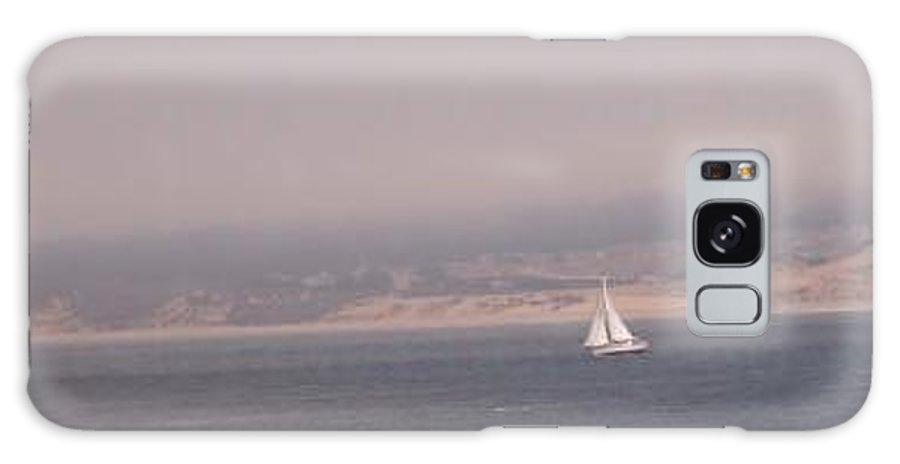 Sailing Sail Sailboat Boating Boat Ocean Pacific Bay Sea Seascape Nature Outdoors Marine Beach Galaxy S8 Case featuring the photograph Sailing Solo by Pharris Art