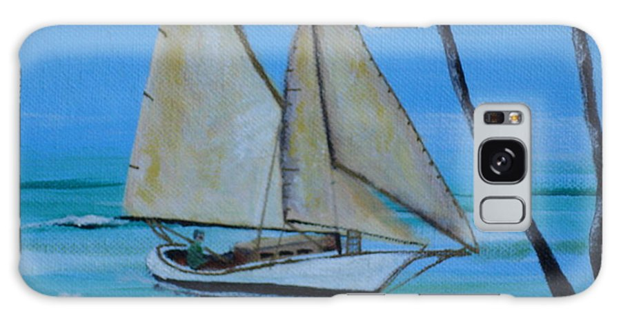 Sailboat Galaxy Case featuring the painting Sailor's Dream by Susan Kubes