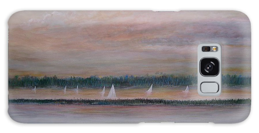 Sailboats; Marsh; Sunset Galaxy Case featuring the painting Sails In The Sunset by Ben Kiger