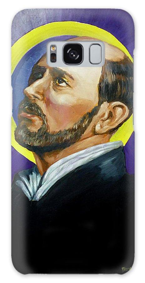 Saint Galaxy S8 Case featuring the painting Saint Ignatius Loyola by Bryan Bustard