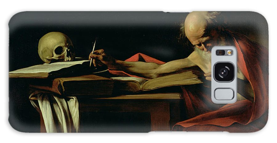 St Jerome Writing Galaxy S8 Case featuring the painting Saint Jerome Writing by Caravaggio