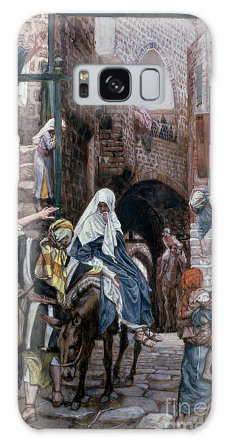 Joseph Galaxy S8 Case featuring the painting Saint Joseph Seeks Lodging In Bethlehem by Tissot