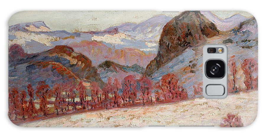 Sauves Galaxy S8 Case featuring the painting Saint Sauves D'auvergne by Jean Baptiste Armand Guillaumin