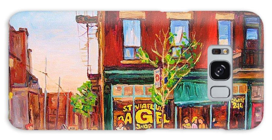 Montreal Galaxy Case featuring the painting Saint Viateur Bagel by Carole Spandau