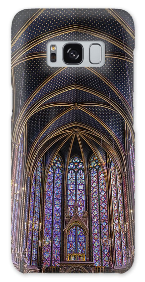 Joan Carroll Galaxy S8 Case featuring the photograph Sainte Chapelle Stained Glass Paris by Joan Carroll