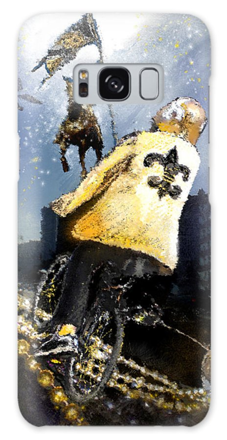New Orleans Galaxy S8 Case featuring the painting Saints Summit In New Orleans by Miki De Goodaboom