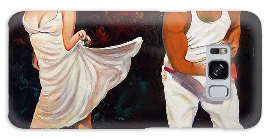 Dancing Cuba Painting Salsa Woman Galaxy Case featuring the painting Salsa 2 by Jose Manuel Abraham