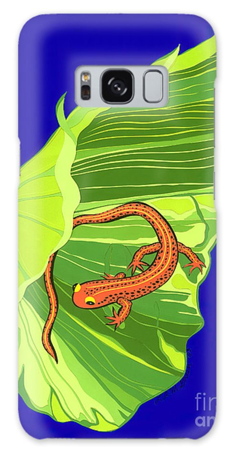 Nature Galaxy Case featuring the drawing Salamander by Lucyna A M Green