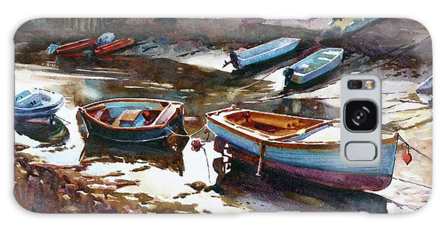 Boats Galaxy S8 Case featuring the painting Salcombe Boatyard by Graham Berry