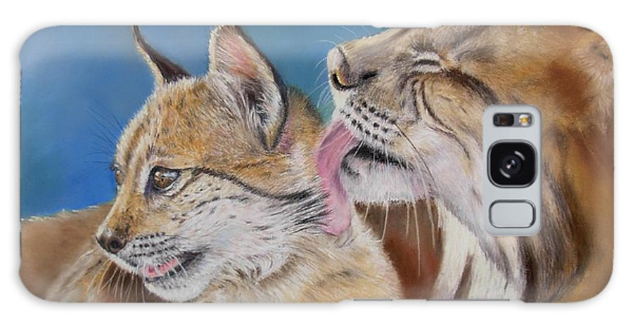 Iberian Lynx Galaxy S8 Case featuring the painting Saliega Y Brezo by Ceci Watson