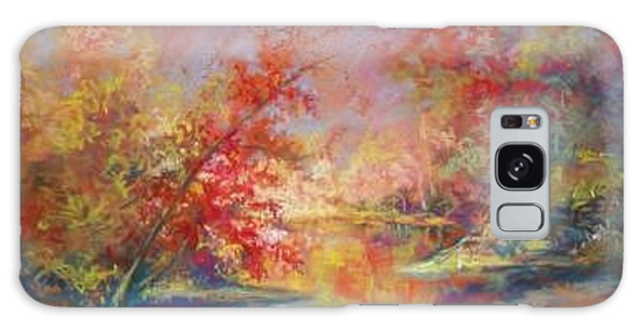 Landscape In Autumn Galaxy S8 Case featuring the painting Saline River View by Marlene Gremillion