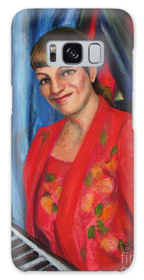 Musician Galaxy S8 Case featuring the painting Sally Ann by Beverly Boulet