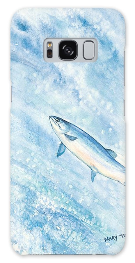 Fish Galaxy S8 Case featuring the painting Salmon by Mary Tuomi