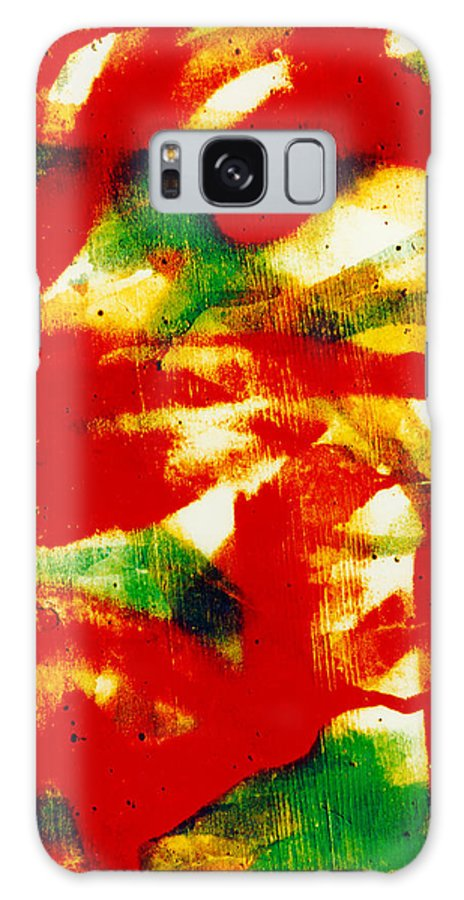 Abstract Galaxy S8 Case featuring the photograph Salsa by David Rivas