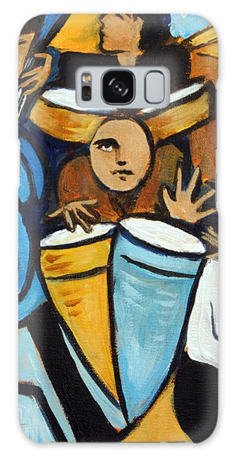 Cubist Salsa Dancers Galaxy S8 Case featuring the painting Salsa Night by Valerie Vescovi