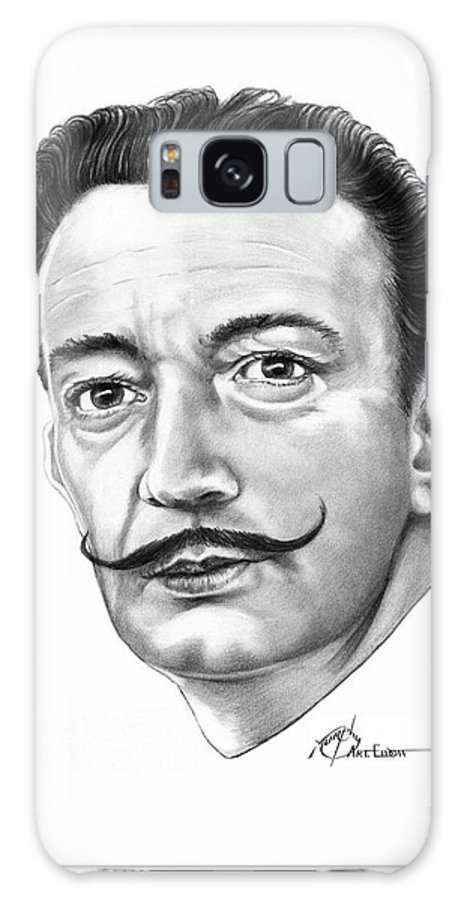 Drawing Galaxy S8 Case featuring the drawing Salvador Dali by Murphy Elliott