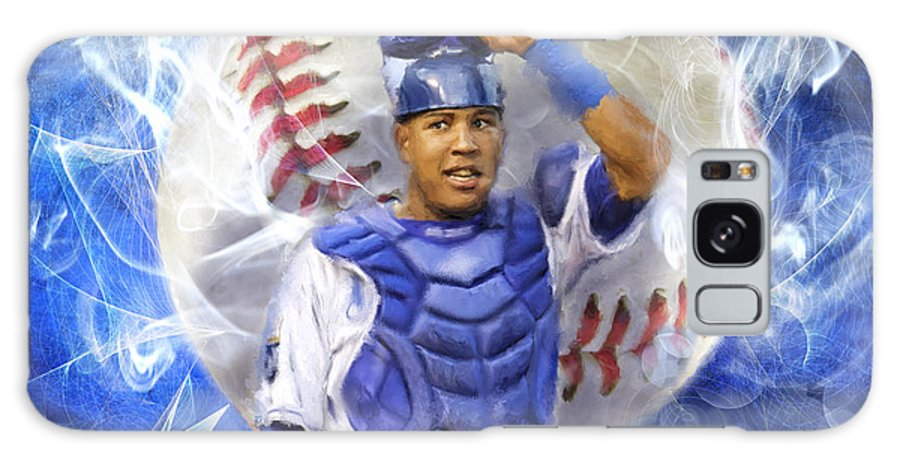 Salvie Galaxy S8 Case featuring the painting Salvy The Mvp by Colleen Taylor