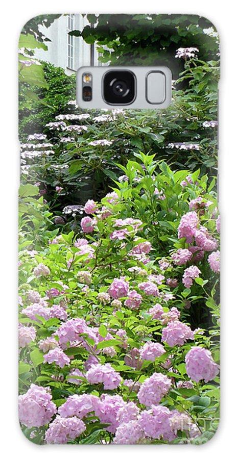 Austria Galaxy S8 Case featuring the photograph Pink Hydrangeas In Mirabell Garden by Carol Groenen