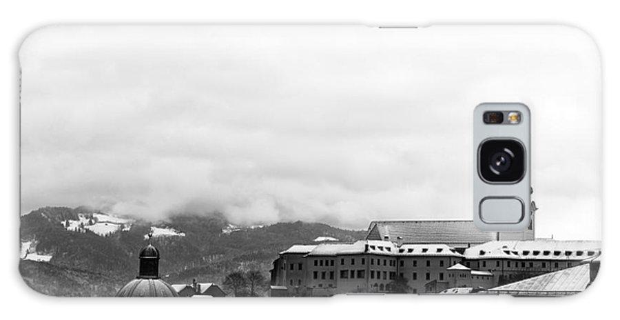 Salzburg Top View Galaxy S8 Case featuring the photograph Salzburg Top View Mono by John Rizzuto