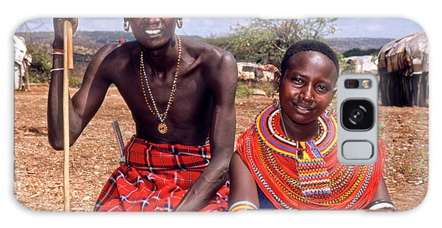 Africa Galaxy S8 Case featuring the photograph Samburu Couple by Michele Burgess